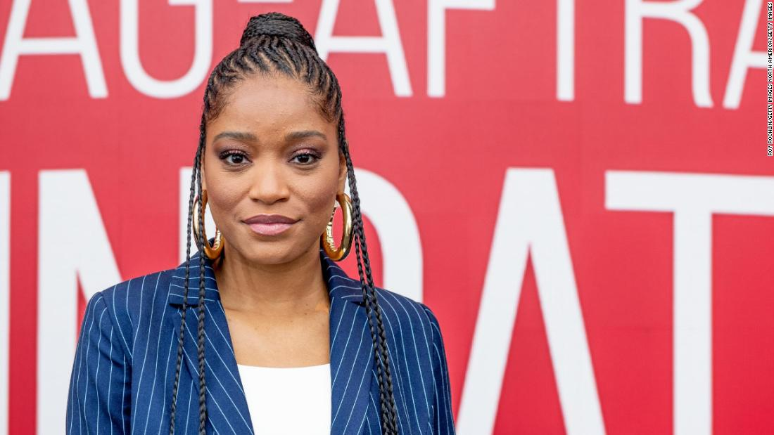 Keke Palmer told the National Guard 'March with us' during a protest in Hollywood