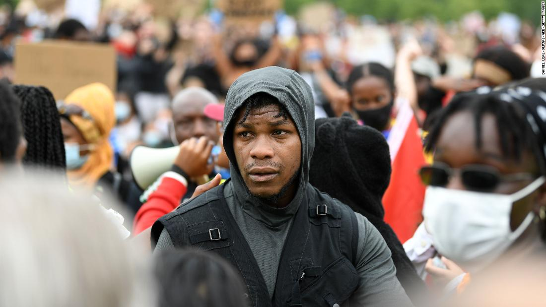 "John Boyega tells London's Black Lives Matter protesters: ""Now is the time"""
