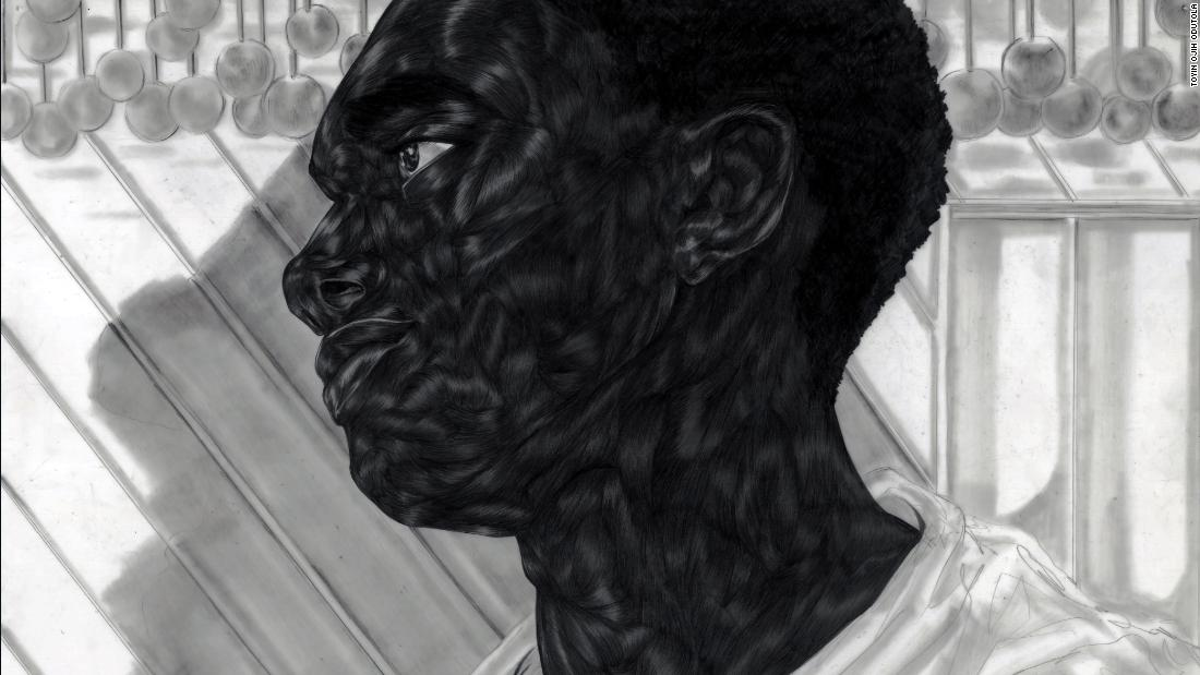 The artist Toyin Ojih Odutola drew intricate portraits of the lives of blacks