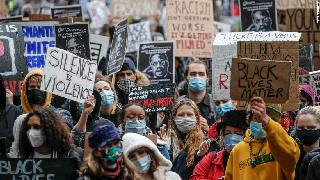 The London Black Lives Matter protest attracts thousands