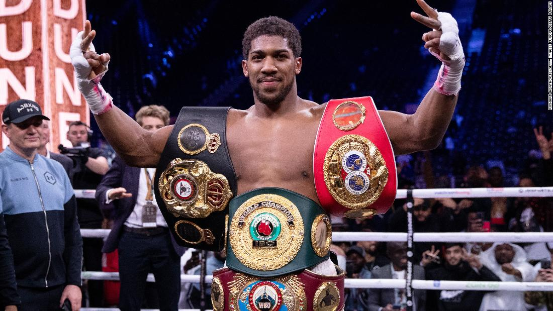 Anthony Joshua and Boris Becker take to the streets in Black Lives Matter protests