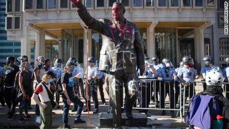 These controversial statues were removed after protests over the death of George Floyd