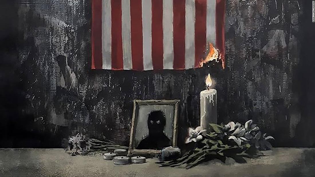 Banksy shares new artwork that supports Black Lives Matter