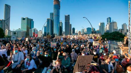 Activists are in Brisbane on Saturday.