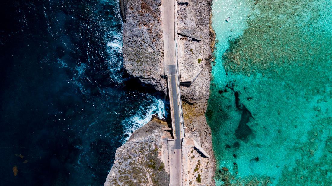 Glass window bridge and Eleuthera exhibits in the Bahamas