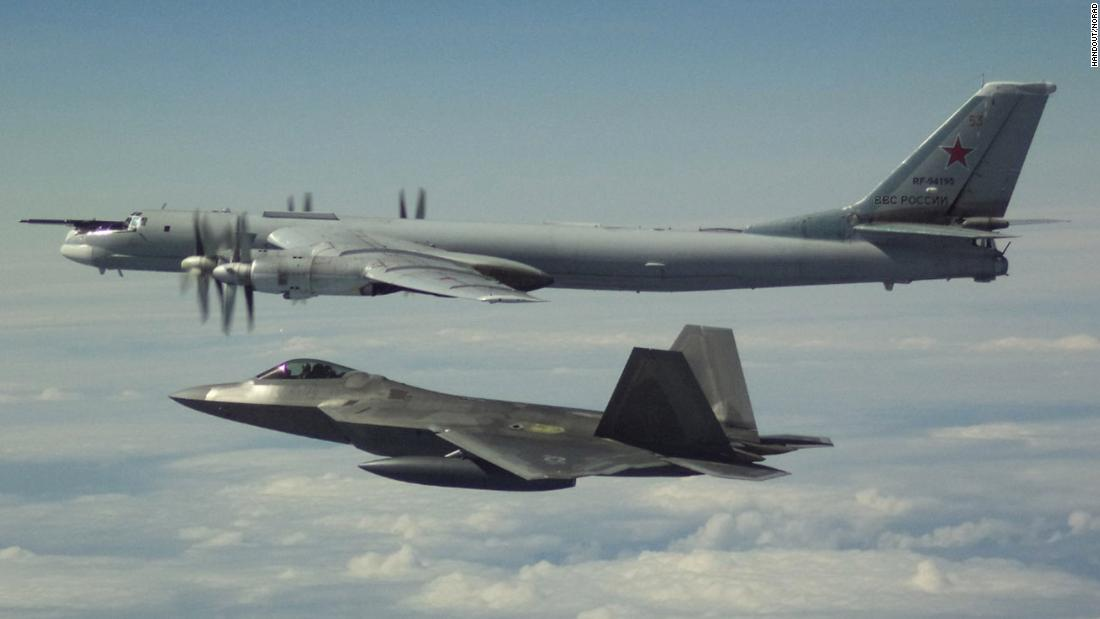 US fighter jets intercept Russian bombers and fighters off the coast of Alaska in international airspace