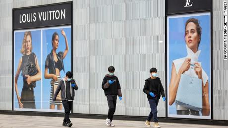 Louis Vuitton store in Wuhan closed in March. His parent company, LVMH, told investors in April that sales had risen for most of its brands in China as the market there reopened.