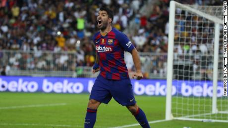 Luis Suarez managed to recover from knee surgery in time to continue La Liga.