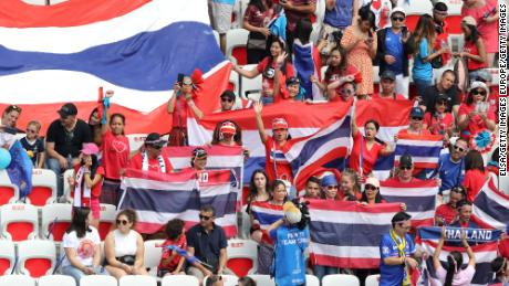Thai fans are showing their support.