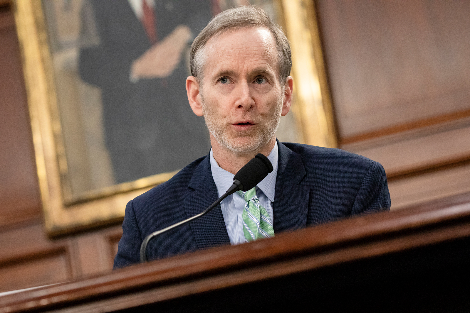 Dr. Tom Inglesby, the director of the Bloomberg School's Center for Health Security, speaks during a briefing Covid-19 developments on Capitol Hill in Washington, on March 6.