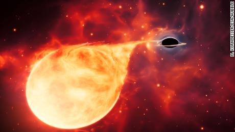 Unreachable & # 39; missing link & # 39; a black hole discovered by Hubble