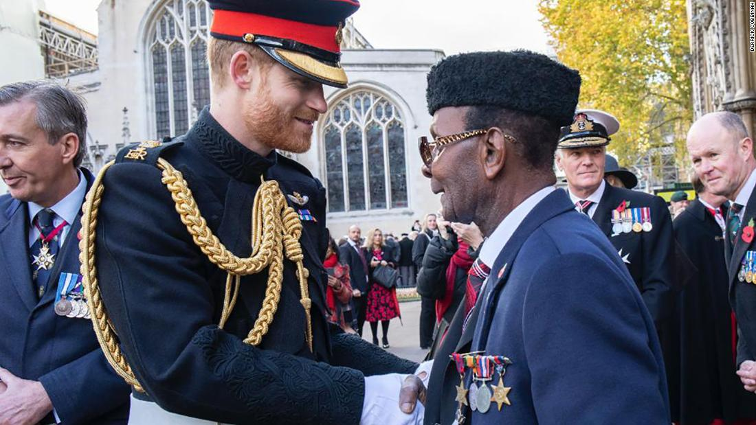 Prince Harry writes to a Ghanaian veteran to congratulate him on his fundraising efforts