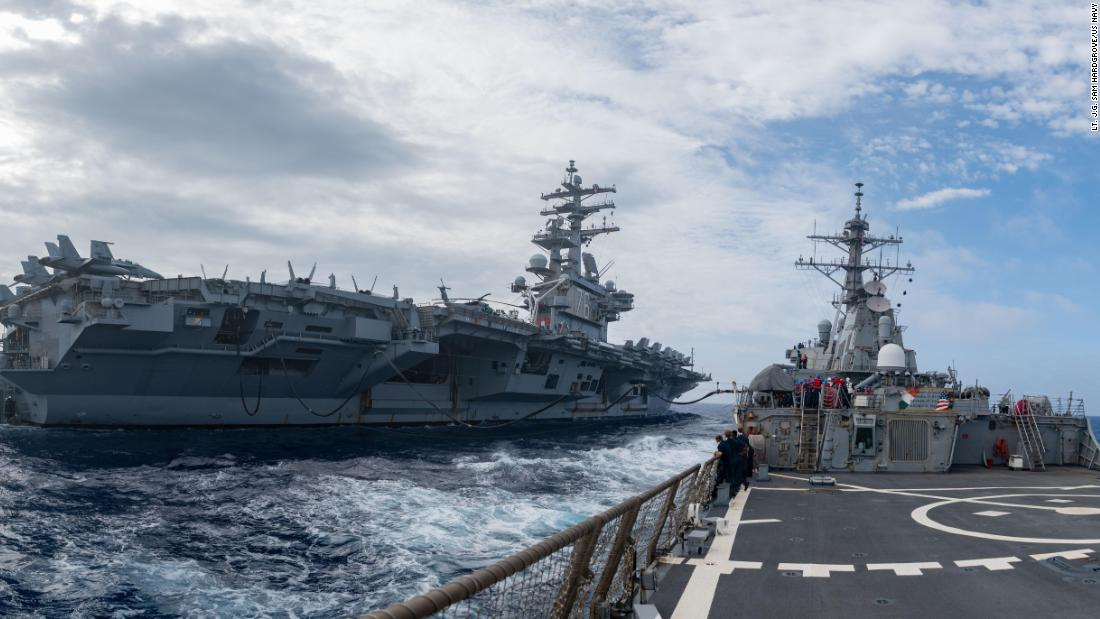 3 U.S. Navy aircraft carriers patrol the Pacific. And China is not happy