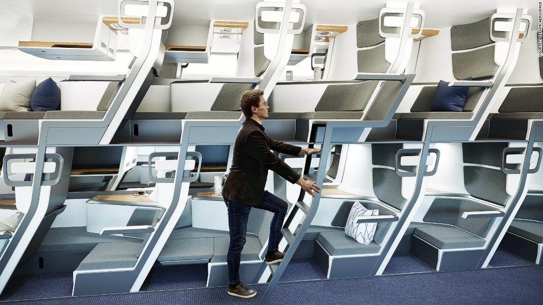 Is this two-story seat the future of air travel?