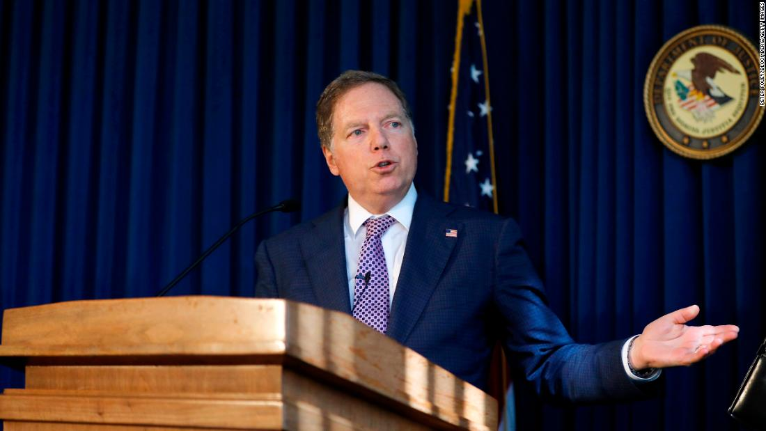 Geoffrey Berman, a powerful U.S. lawyer who investigated Trump aides, refuses to step down after Barr pushes him out