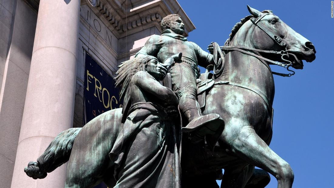 Theodore Roosevelt statue will be removed from the front steps of the Museum of Natural History