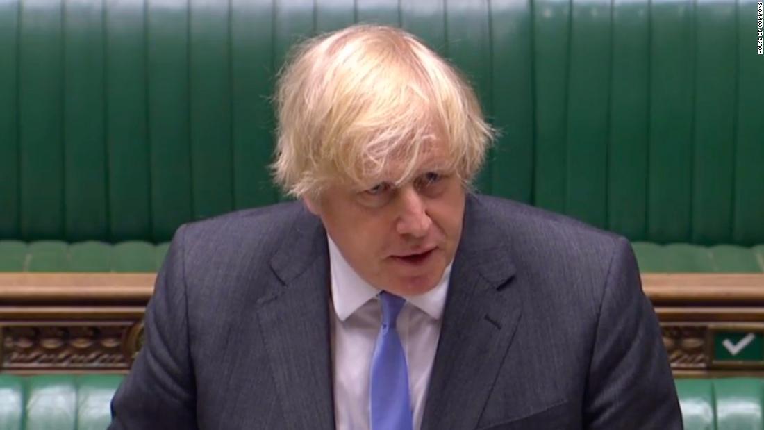 British Prime Minister Boris Johnson presented great relaxation