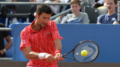 Djokovic achieves a comeback during the Adria tour in Zadar, Croatia.