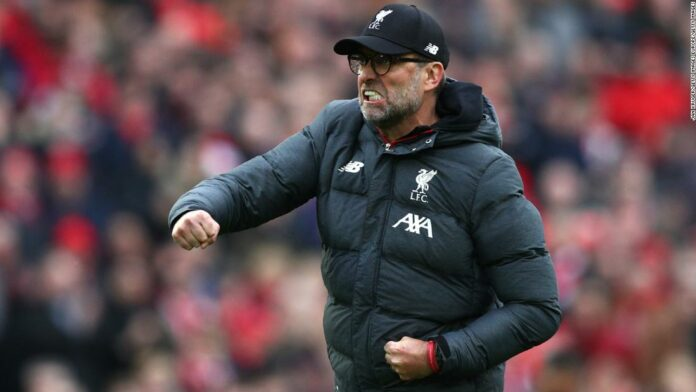 Liverpool boss Jurgen Klopp is looking at potential points after winning the Premier League title