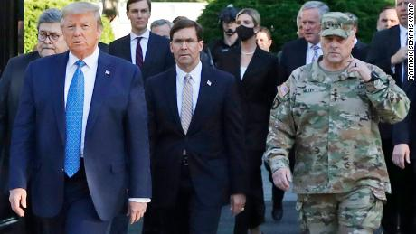 General Mark Milley, chairman of the Joint Chiefs of Staff, rightly so, has since invited his presence to Trump's walk through St. Mary's Church. John