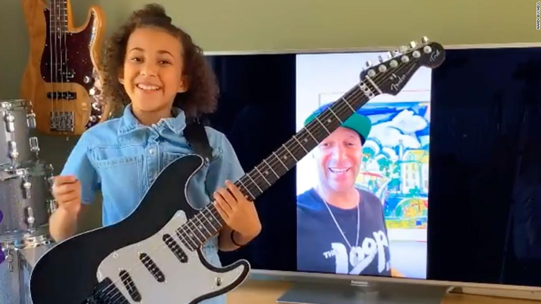 Out of rage against the machine, Tom Morello donated one of his guitars to a 10-year-old rocker girl