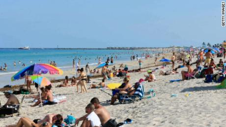 Famous beaches in Miami, which close for the fourth of July