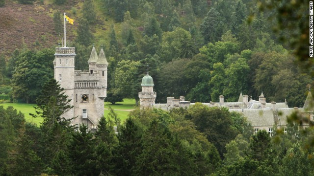 Balmoral, the Queen's Scottish residence, is used as a public toilet