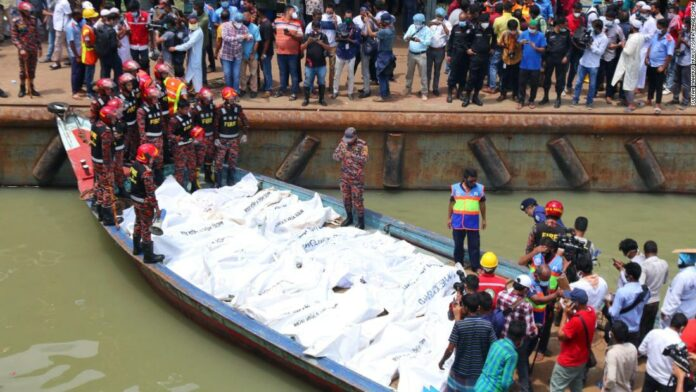 A ferry collision in Bangladesh killed at least 32, because the ship sank in 20 seconds