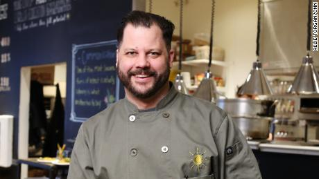 Chad Houser has turned his non-profit restaurant space into an emergency food distribution center.