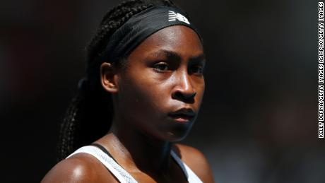Coco Gauff called for change and called on people to vote.