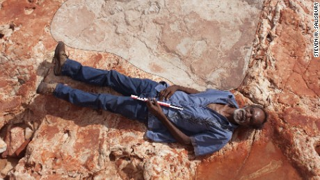 The largest dinosaur footprint in the world was found in George Park in Australia and Australia.