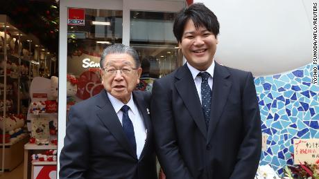 President Sanria Shintaro Tsuji hands over the company to his grandson Tomokuni Tsuji.