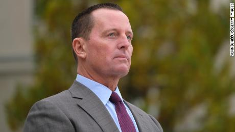Then US Ambassador to Germany Richard Grenell awaits the arrival of Secretary of State Mike Pompeo in November 2019 in Berlin, Germany.