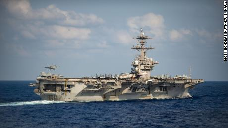 An American aircraft carrier affected by a major coronavirus outbreak is returning to the sea