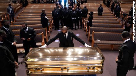 Joe Biden and Rev. Al Sharpton held remarks at George Floyd's funeral in Houston