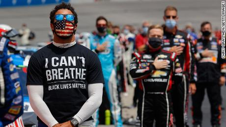 Bubba Wallace has spoken out against displaying the Confederate flag in NASCAR events, which NASCAR banned in June 2020.