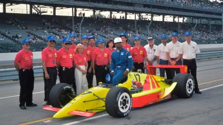 The Walker Racing team successfully qualified Ribbs for the Indy 500 in 1991, making him the first black driver to compete in a race (Courtesy: Dan R Boyd)