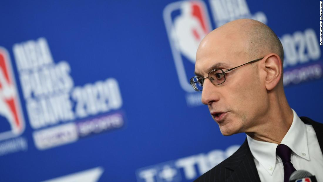 NBA commissioner Adam Silver cannot guarantee that the season will continue if there is an increase in coronavirus cases