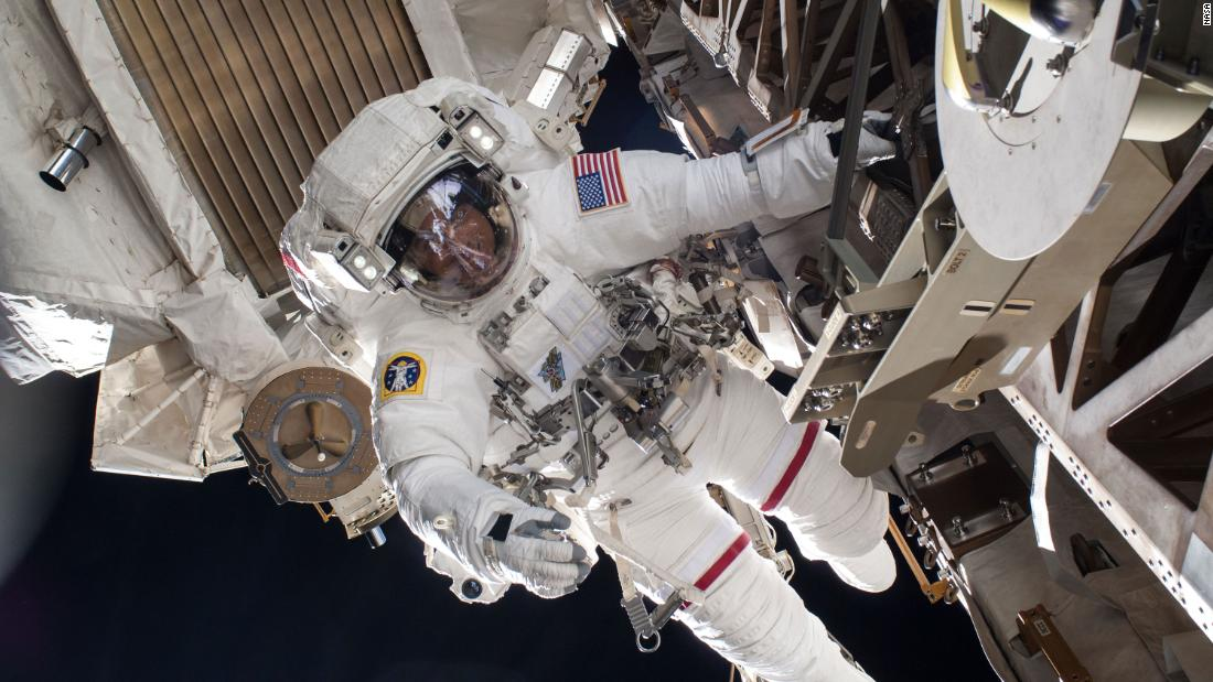 NASA astronauts are conducting a second spacewalk to upgrade the power of the space station