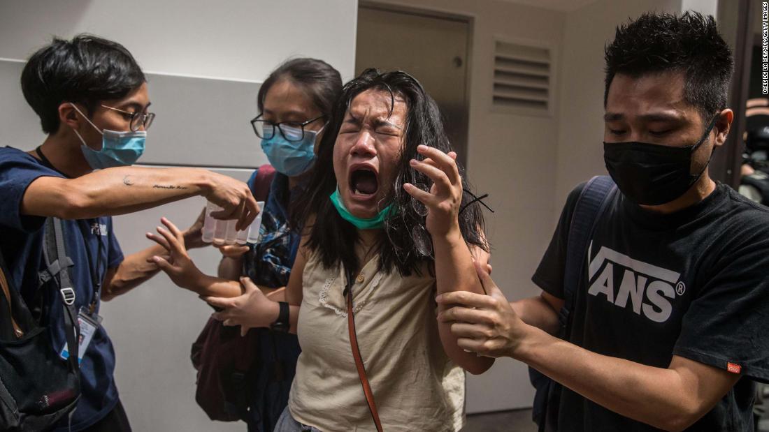 Protests July 1 in Hong Kong
