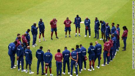 The West Indies team observed a minute of silence in memory of Weekes today.