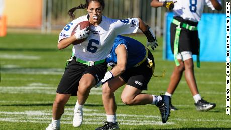 Teams from all over the U.S. are participating in the NFL Flag Football Championship.