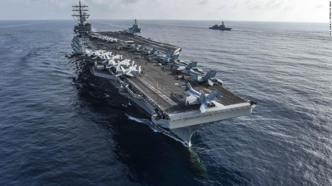 The U.S. Navy sent two planes and several warships to the South China Sea