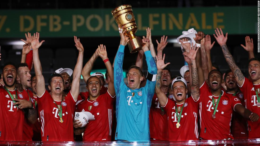 Bayern Munich stays on track for historic threes with German Cup victory over Bayer Leverkusen