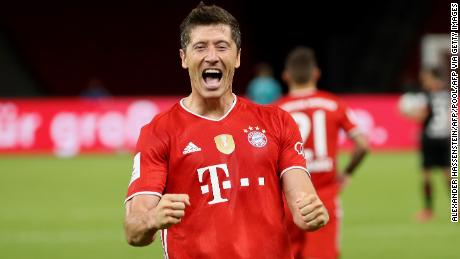 Robert Lewandowski scored his 50th and 51st goal of an incredible season.