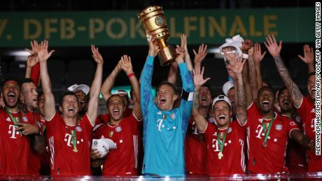 Bayern Munich lifted the German Cup after beating Bayer Leverkusen 4-2.