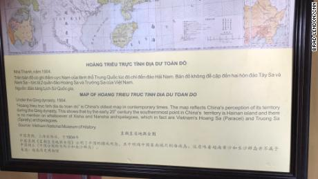 At the Hue Citadel is a map of what Vietnam calls it