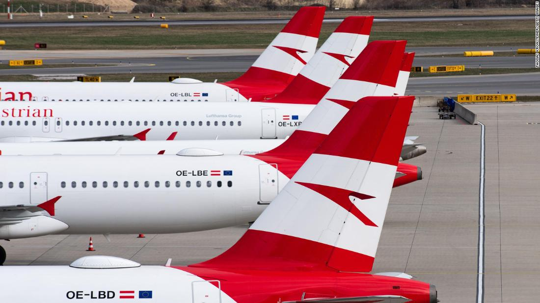 Austrian Airlines is replacing short flights with trains as part of government aid