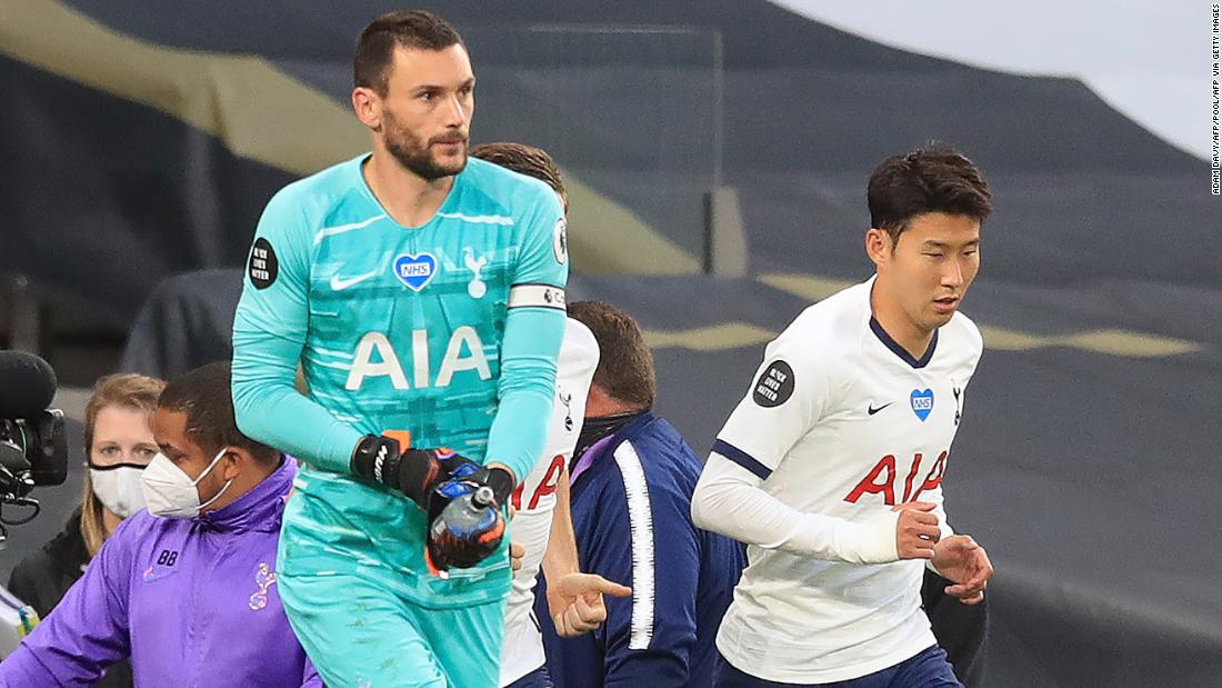 Jose Mourinho praises the 'beautiful' shower between Lloris and Son