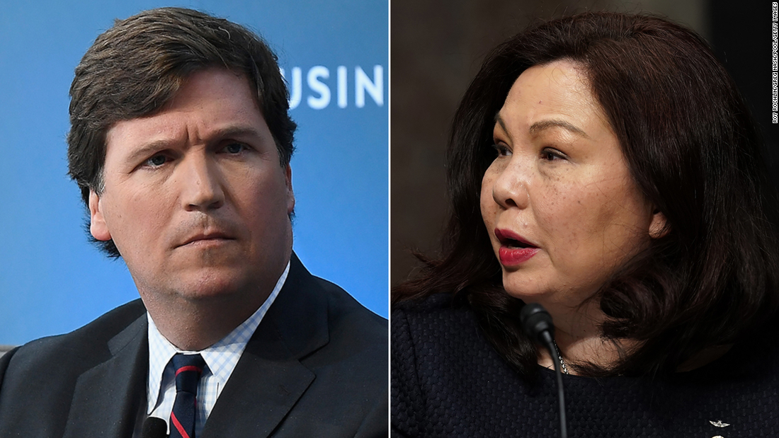 Senator Tammy Duckworth, who lost her legs in a job in Iraq, strikes back after Tucker Carlson suggests she hates America